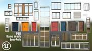 Colección de puertas y ventanas. modelo 3d
