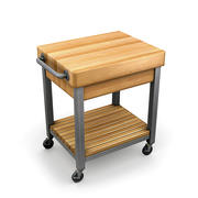 Kitchen Cutting Block Cart 1 3d model