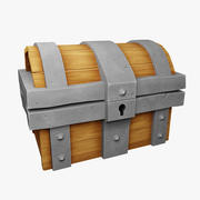 Lowpoly Treasure Chest 3d model