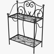 Iron Plant Shelf 3d model