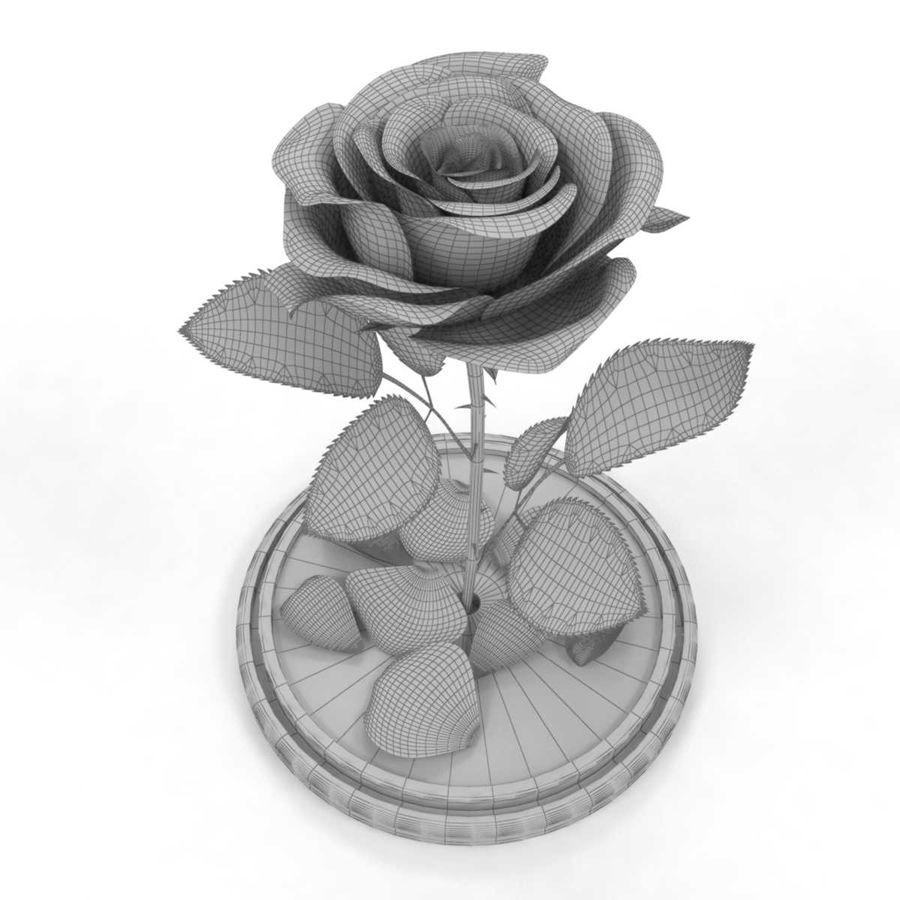 Rode roos in een kolf royalty-free 3d model - Preview no. 3
