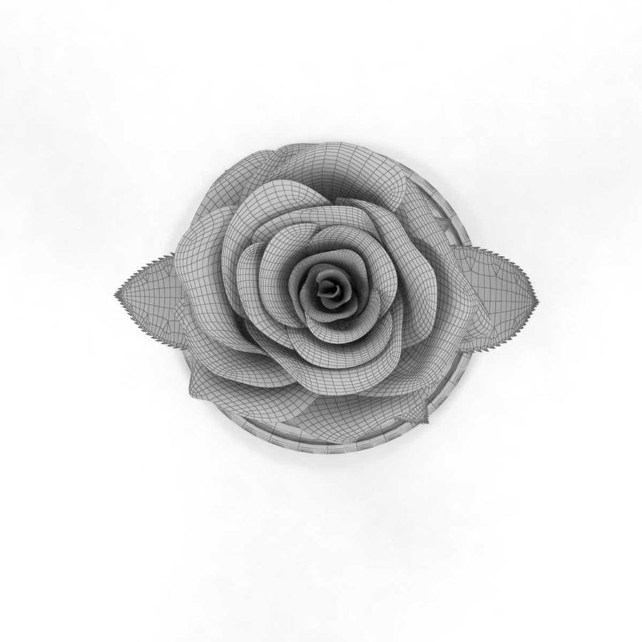 Rode roos in een kolf royalty-free 3d model - Preview no. 12