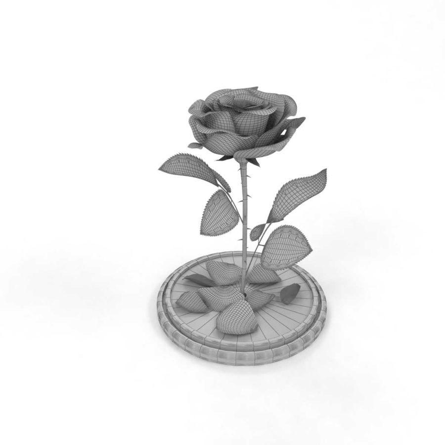 Rode roos in een kolf royalty-free 3d model - Preview no. 13