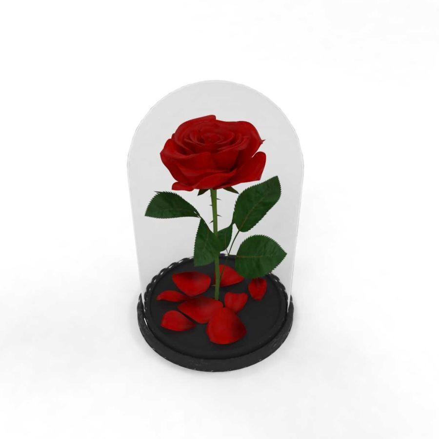 Rode roos in een kolf royalty-free 3d model - Preview no. 1