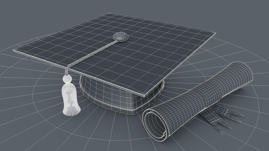 Examen Cap royalty-free 3d model - Preview no. 5
