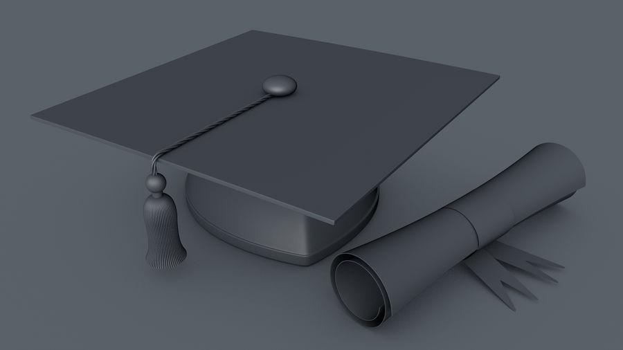 Examen Cap royalty-free 3d model - Preview no. 4