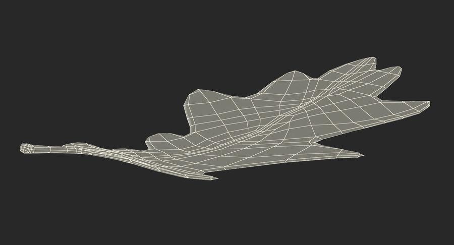 참나무 잎 royalty-free 3d model - Preview no. 14