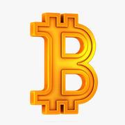 Symbol Bitcoin 3d model