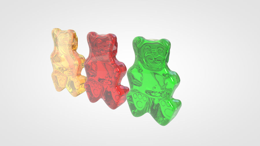 Gummy Bear royalty-free 3d model - Preview no. 6