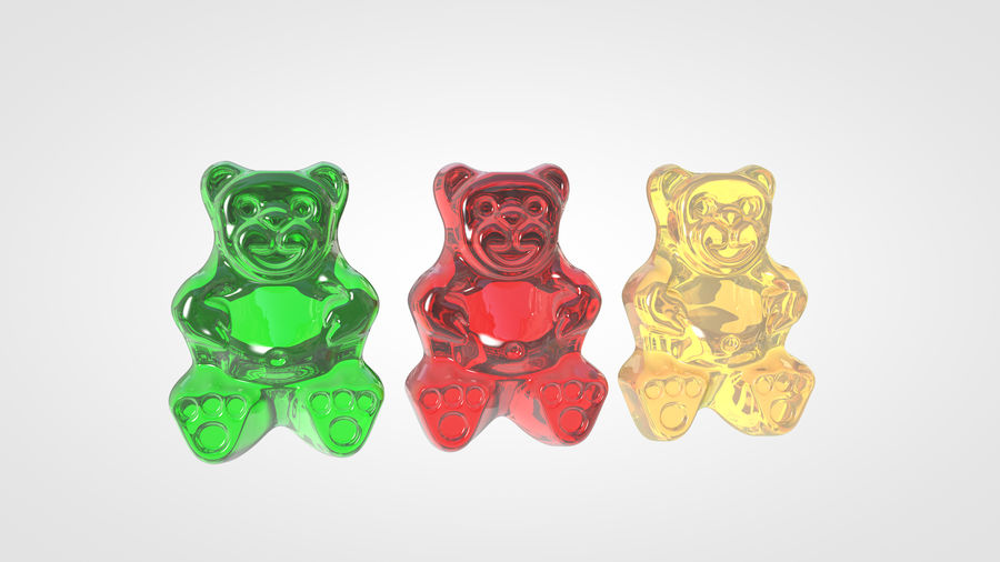 Gummy Bear royalty-free 3d model - Preview no. 9