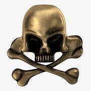 Skull and Bones Pirate Pin 3D 모델 3d model
