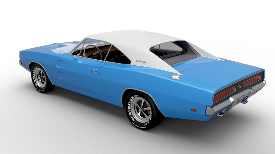 Dodge Charger 1969 royalty-free 3d model - Preview no. 2