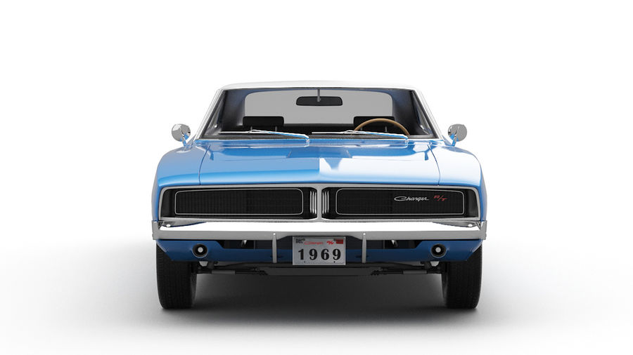 Dodge Charger 1969 royalty-free 3d model - Preview no. 5