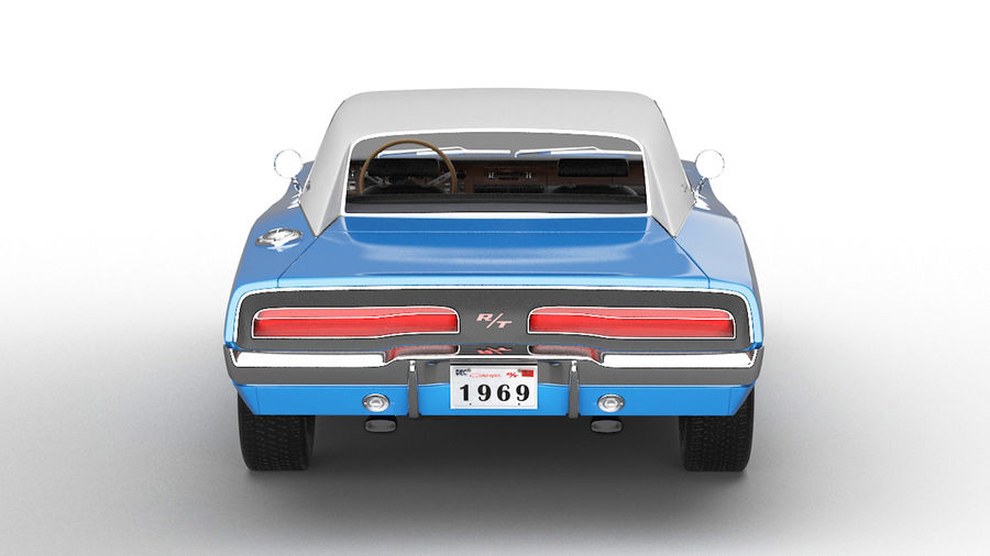 Dodge Charger 1969 royalty-free 3d model - Preview no. 4