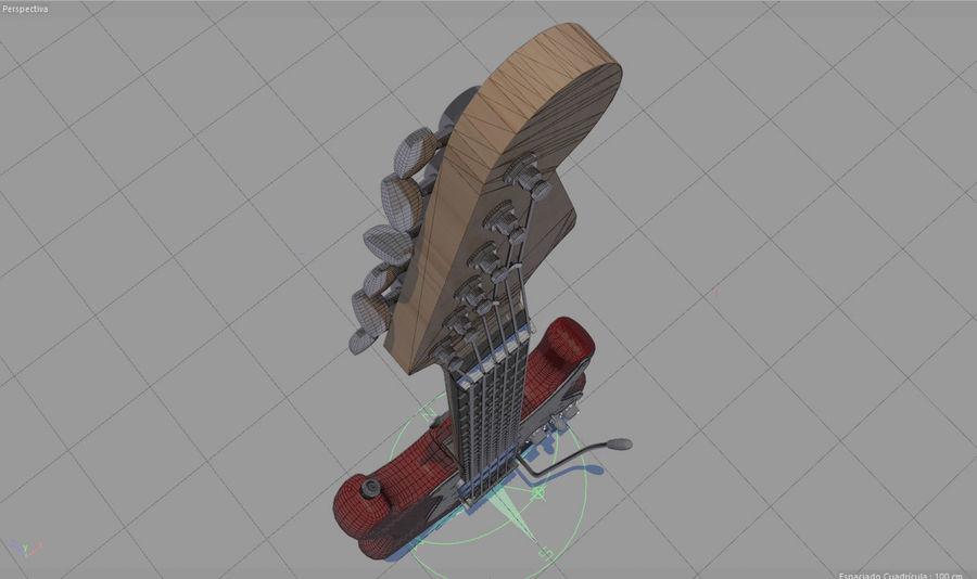 Guitare électrique royalty-free 3d model - Preview no. 16