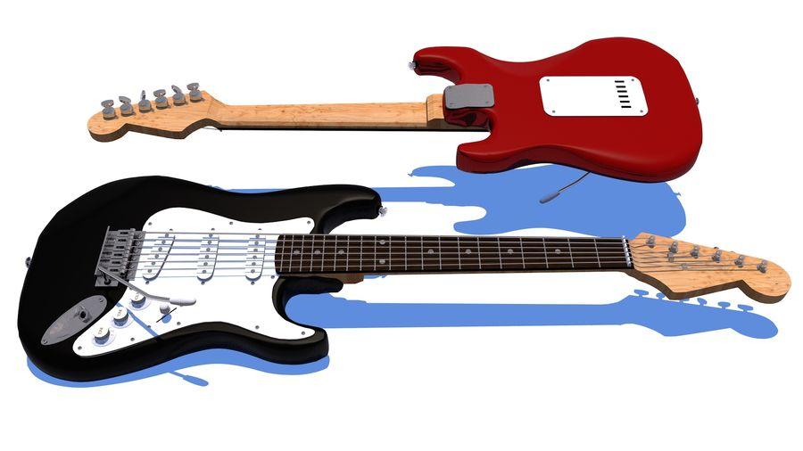 Guitare électrique royalty-free 3d model - Preview no. 2