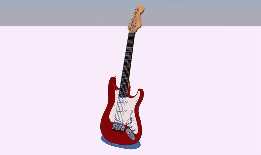Guitare électrique royalty-free 3d model - Preview no. 5