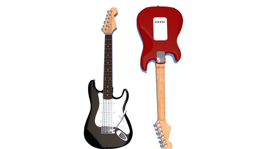 Guitare électrique royalty-free 3d model - Preview no. 8