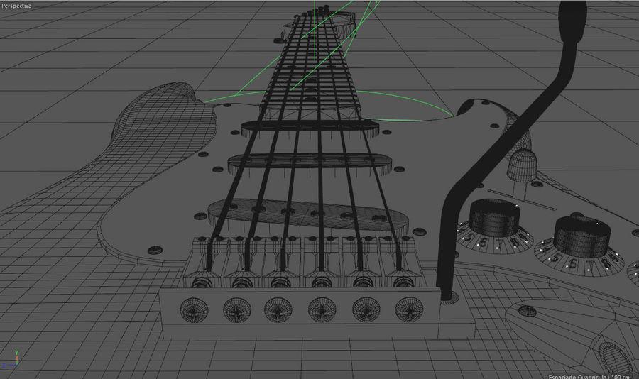 Guitare électrique royalty-free 3d model - Preview no. 11