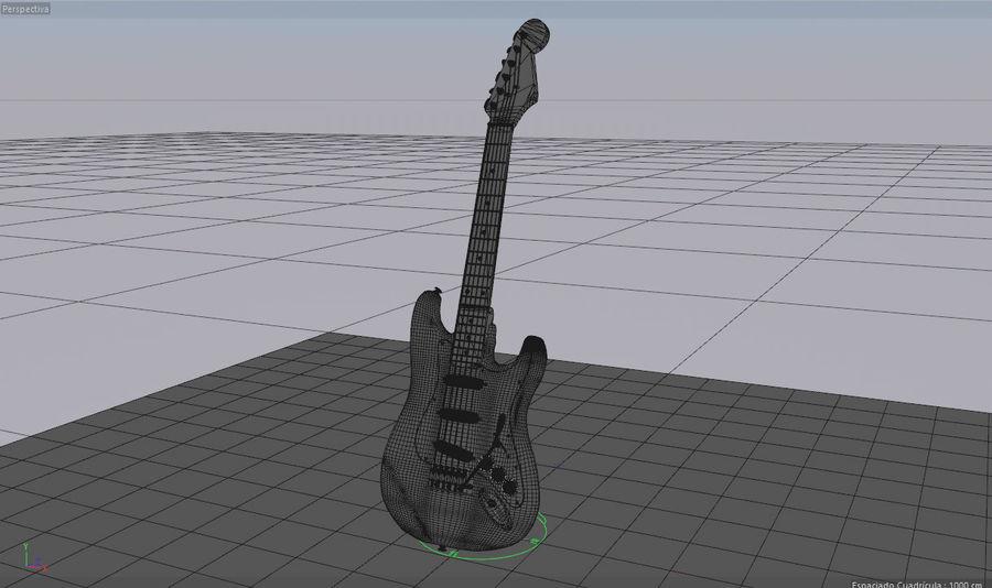 Guitare électrique royalty-free 3d model - Preview no. 7