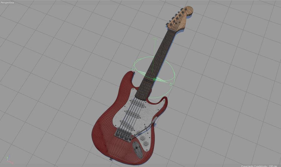 Elektrische gitaar royalty-free 3d model - Preview no. 25