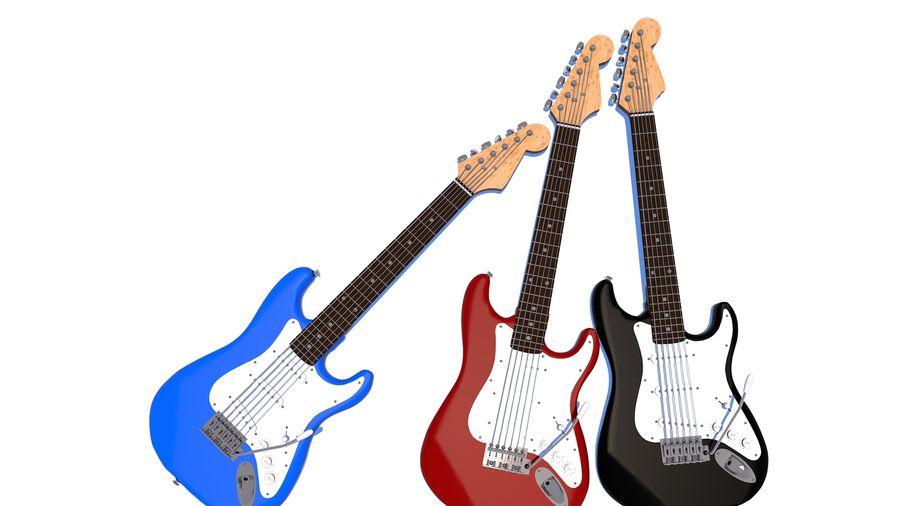Guitare électrique royalty-free 3d model - Preview no. 23