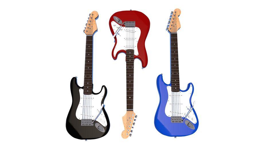 Guitare électrique royalty-free 3d model - Preview no. 13