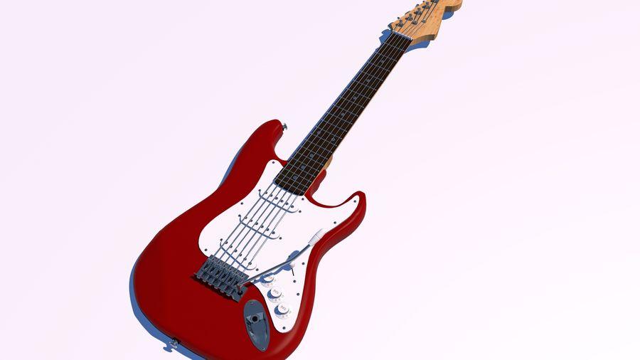 Guitare électrique royalty-free 3d model - Preview no. 3