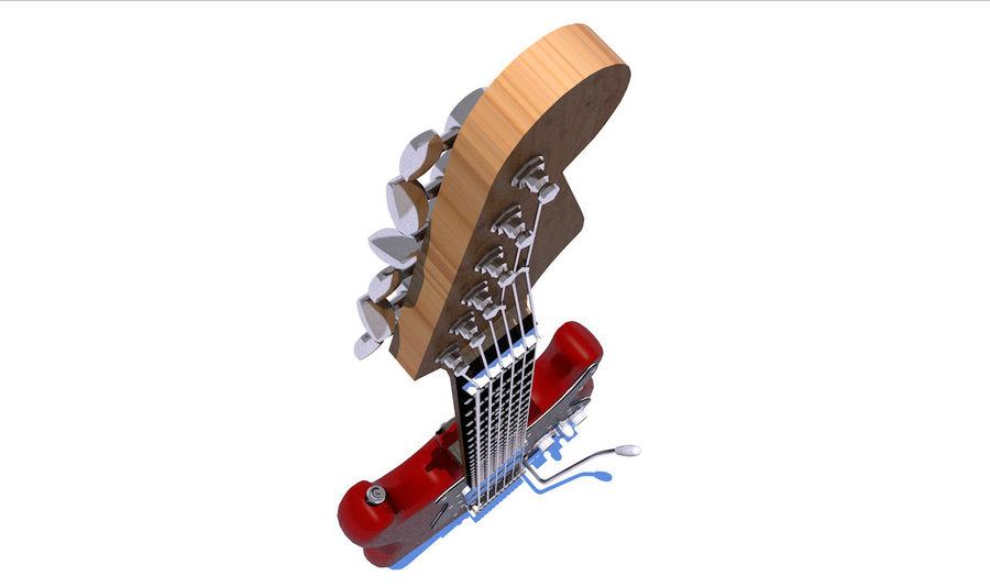 Elektrische gitaar royalty-free 3d model - Preview no. 14