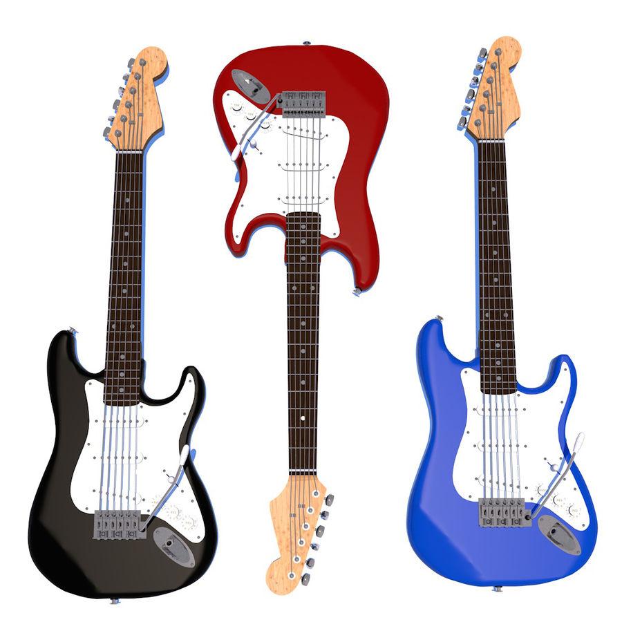 Guitare électrique royalty-free 3d model - Preview no. 1