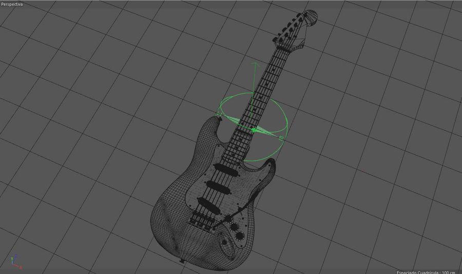 Guitare électrique royalty-free 3d model - Preview no. 28