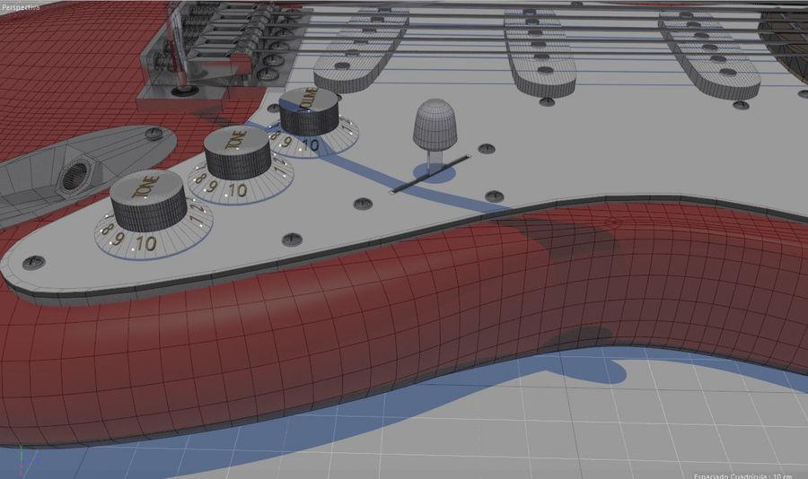 Guitare électrique royalty-free 3d model - Preview no. 18