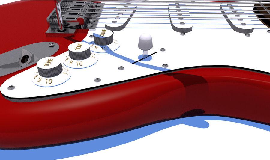 Guitare électrique royalty-free 3d model - Preview no. 17