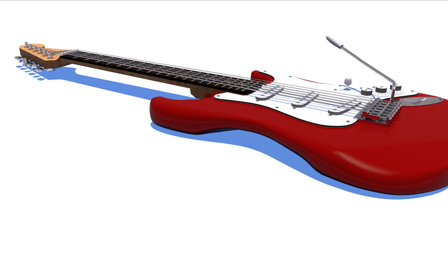 Guitare électrique royalty-free 3d model - Preview no. 20