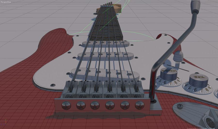 Guitare électrique royalty-free 3d model - Preview no. 10