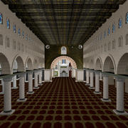 Al-Masjid Al-Aqsa (dentro) modelo 3d