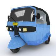Blue Three Wheeler modelo 3d
