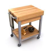 Kitchen Cutting Block Cart 1A 3d model