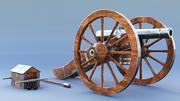 大炮 3d model