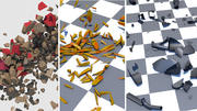 Animated Debris Collection 3d model