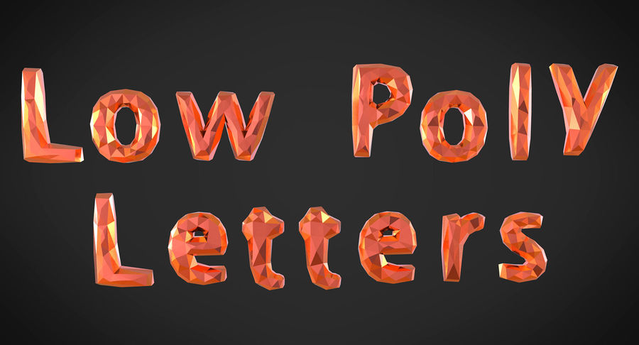 Low Poly Letters royalty-free 3d model - Preview no. 3