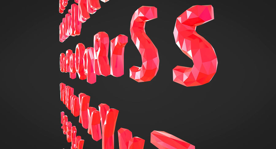 Low Poly Letters royalty-free 3d model - Preview no. 14