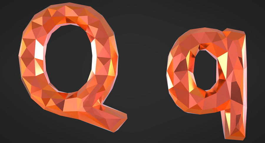 Low Poly Letters royalty-free 3d model - Preview no. 16