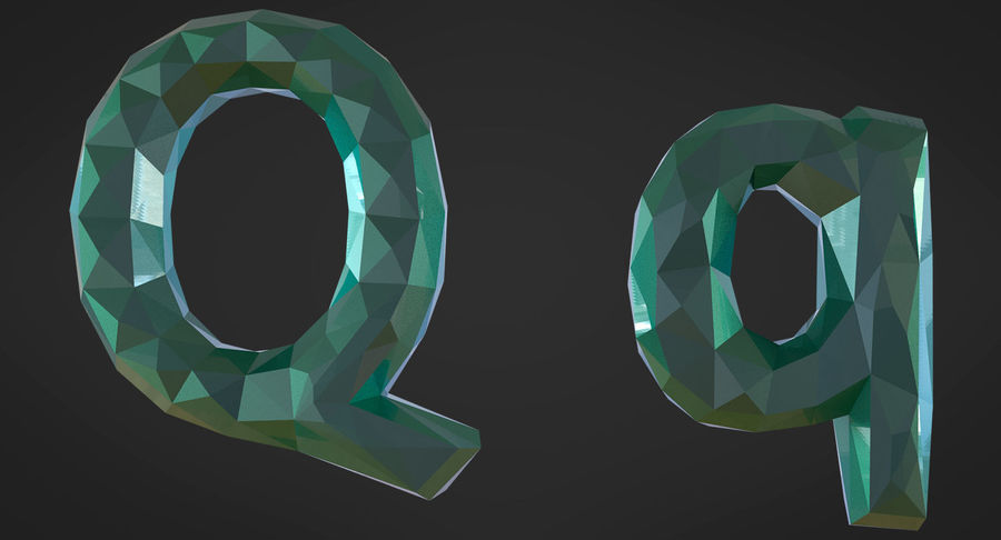 Low Poly Letters royalty-free 3d model - Preview no. 17