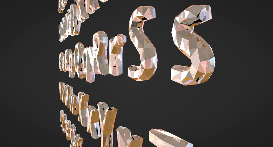 Low Poly Letters royalty-free 3d model - Preview no. 15