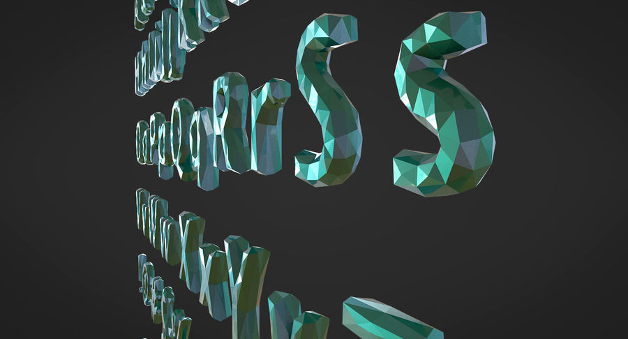 Low Poly Letters royalty-free 3d model - Preview no. 13