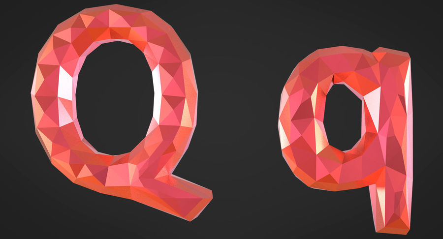 Low Poly Letters royalty-free 3d model - Preview no. 18