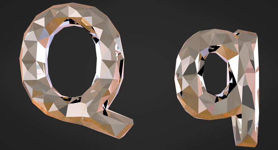 Low Poly Letters royalty-free 3d model - Preview no. 19