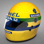 Ayrton Senna Helmet 1987 L009 3d model