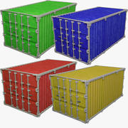 Collezione di contenitori di carico V1 3d model
